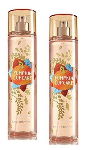 Bath and Body Works 2 Pack Pumpkin Cupcake Body Mist 8 Oz. by