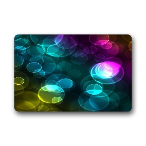Circles Multi Coloured - HomeDailyLife Multi Coloured Circle Polka Dot Doormat 23.6