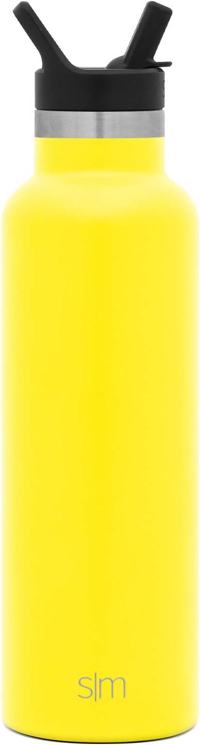 aislada al vac/ío Doble Pared Boca Estrecha Acero Inoxidable 18//8 con Recubrimiento en Polvo Simple Modern Ascent Botella de Agua con Tapa de Paja