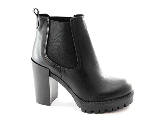 Pregunta 1452P Schuhe der Schwarzen Frau Stummel Elastische Ferse Nero
