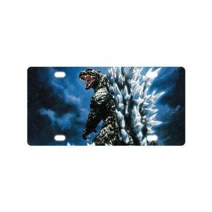 Godzilla Custom Metal Auto License Plate Frame Car Tag Holder Tag 6
