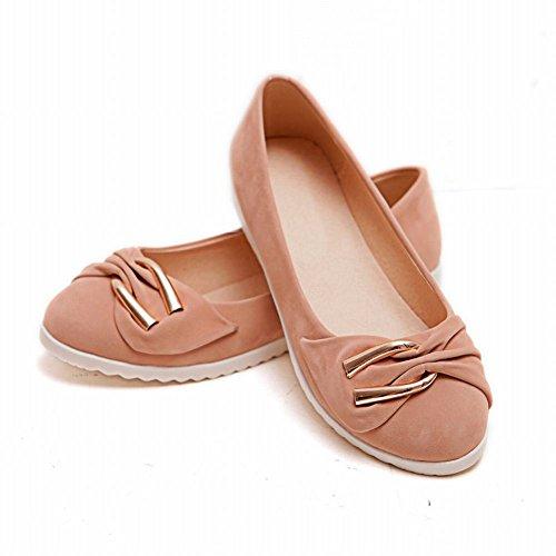 Hymne Elegantie Damesmode Bowknots Manchet Comfort Chic Loafers Flats Schoenen Roze