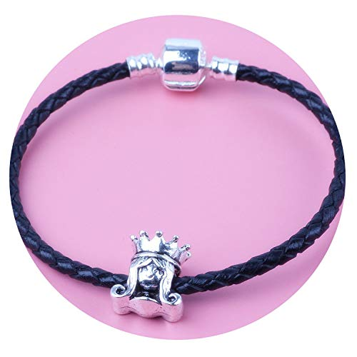 Tea language Braided Leather Bracelet for Men Women Magnetic Clasps Charm Bracelets FeJewelry,C-214,16cm