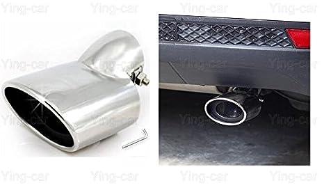 Amazon com: Yingchi-Car/2Pcs silver Exhaust Muffler Tail