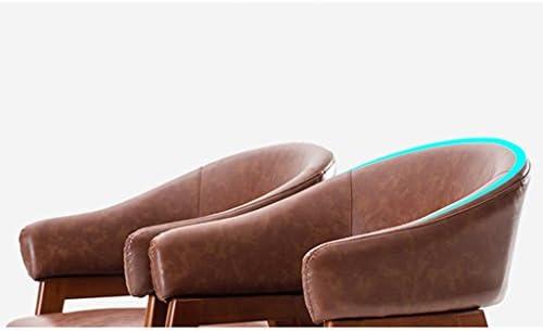 Chaise de salle à manger SLL- moderne en bois massif minimaliste avec accoudoirs en tissu moderne (couleur : D)