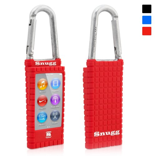 Snugg iPod Nano 7th Generation Case - Silicone Rubber Case & (Red) for Apple iPod Nano 7th Generation (Apple Ipod Red)