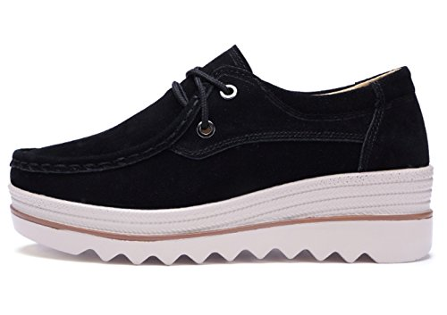 B Shoes Slip Sneakers DADAWEN Women's Platform Black On Walking WwSxWP4CHq