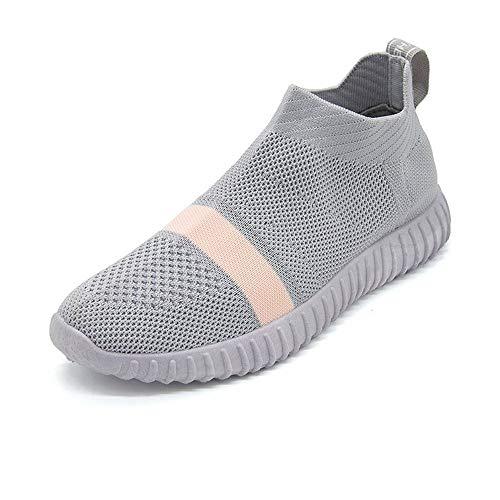 Calzado De Rosa Mujer Pisos Calcetines Deportivos Zapatos Rojos Resbalar Sock Zapatillas Transpirable Primavera Zapatillas Malla XINGMU En Mujer Sgaqww