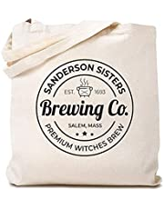 Brewing Co Canvas Tote Bag Sanderson Sisters Halloween Funny Reusable Shopping Bag for Women