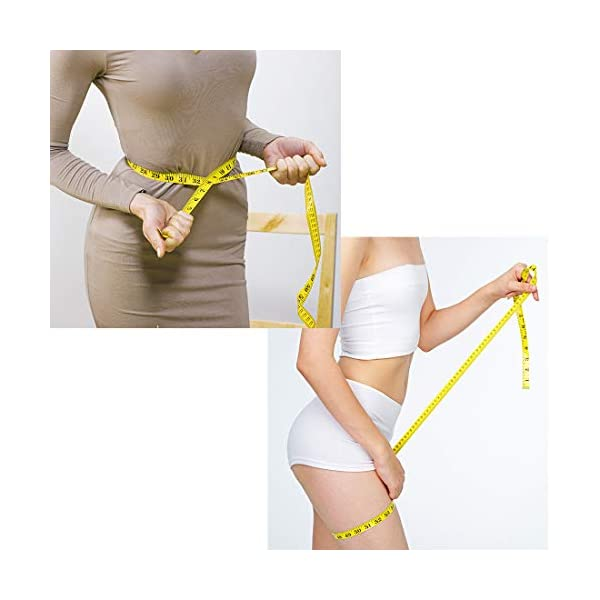 120-inch 300cm Soft and Retractable Tape Measure Medical Body Measurement Tailor Sewing Craft Cloth Dieting Measuring Tape,Yellow Color 41Mk57K1oIL