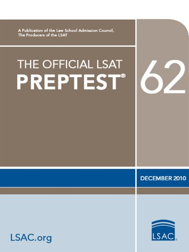 The Official LSAT PrepTest 62--December 2010 LSAT
