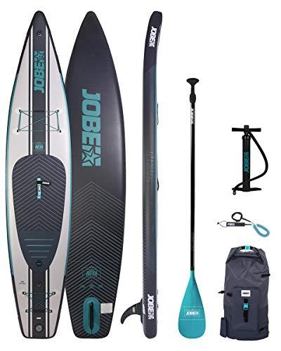 Jobe Neva 12'6 Inflatable SUP Stand Up Paddle Boarding Package – Board, Bag, Pump & Paddle – Waterproof Sprayproof…