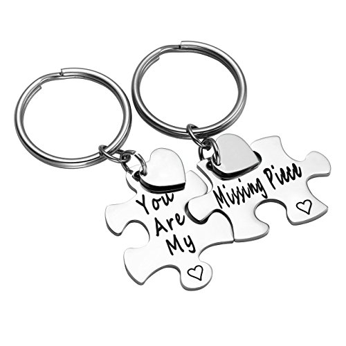 Zysta Stainless Steel Keychain Ring Jigsaw Puzzles