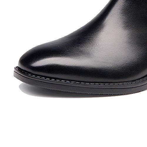 noir en antidérapant cuir bottines mode portable Zqzq Fx67AvA