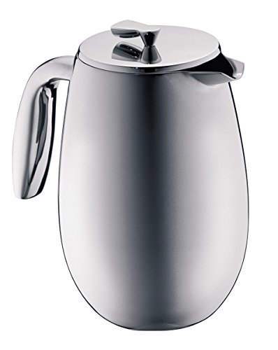 Bodum Columbia Cafetera y tetéra, Jarra térmica, Acero Inoxidable, Mate, 1 litro