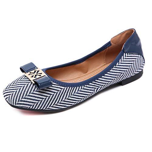 Zapatillas Blue Shoes Cómodos Moda De Ballet Plano Zpl Mujer Bailarinas Zapatos Mocasines Para Casuales Transpirables AIqwOdRx