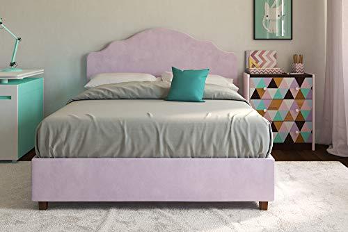 (DHP Savannah Upholstered Platform Bed, Lilac,)