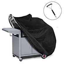 Grill Cover, BBQ Cover Medium, BBQ Grill Cover, Barbecue Cover, BBQ Cover, Heavy Duty Gas Grill Cover 145 x 61 x 117 cm Include a StainlessSteel Grill Brush