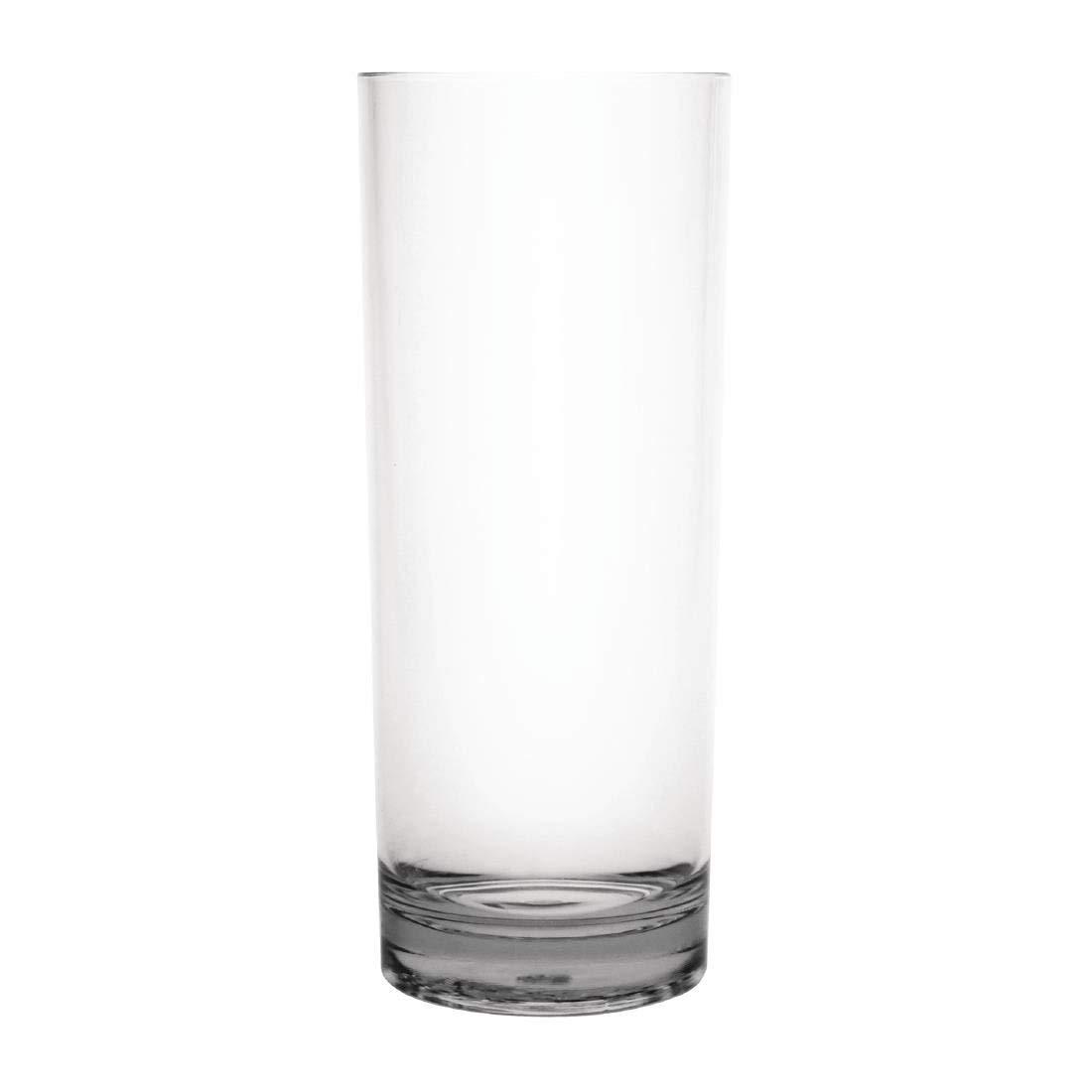 360/ml Pack de 6 Kristallon dc924/policarbonato Hiball Vaso transparente 12,75/oz