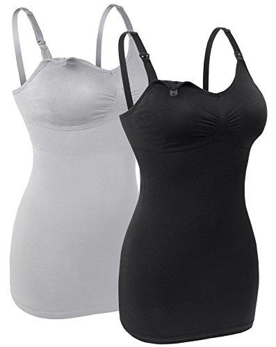 5268eeec4ab4b MIRITY Womens Seamless Nursing Bra for Breastfeeding Wirefree Maternity  Wear Bralette Packof 2