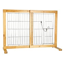 Trixie Pet Products Free Standing Dog Gate with Walk-Thru Pet Door
