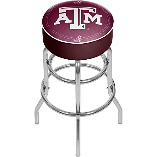 NCAA Texas A&M University Padded Swivel Bar Stool