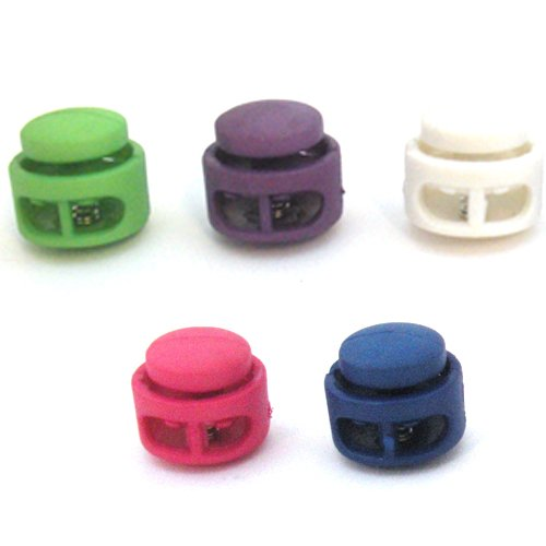 Paracord Planet Double Barrel Cord Lock Draw String Toggle Stopper in Various Colors – Choose from 5, 10, & 20 Pack Sizes