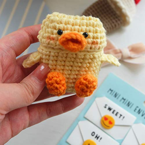 Airzir Cute AirPods Case Cover for AirPods 1 & 2, Premium Handmade Knitted Protective Case Cover for AirPods Charging Case (Little Duck)