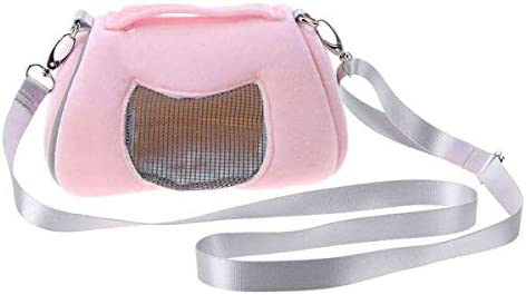 Breathable Small Pet Carrier BagPortable Travel HandbagAdjustable Single Shoulder Strap for Hamster Hedgehog Sugar Glider Chinchilla Guinea Pig and Squirrel / Breathable Small Pet Carrier BagPortable Travel HandbagAdjustable Single...