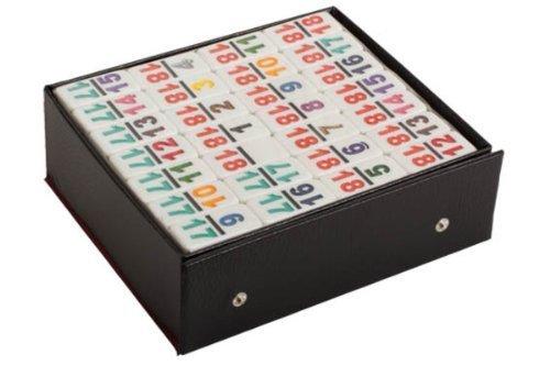 割引発見 Professional White Size Double 18 White Dominoes with Double with Multicolored Numbers by CHH B01MD2H0T9, シロイシ:cc6511ad --- arianechie.dominiotemporario.com