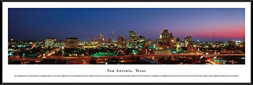 San Antonio, Texas - Blakeway Panoramas Skyline Posters with Standard - Pictures Of Texas Alamo The San Antonio In