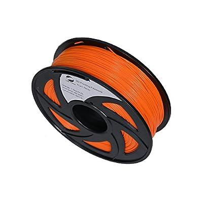 LEE FUNG 1.75mm PLA 3D Printing Filament Dimensional Accuracy +/- 0.05 mm 2.2 LB Spool DIY Material Tools(Orange)