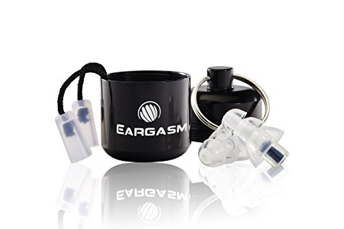 Eargasm Activewear Series Earplugs in Black Case