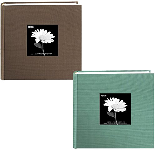 "Pioneer Fabric Frame Cover Photo Albums – Warm Mocha and Tranquil Aqua - Holds 200 4"" x 6"" Photos by Pioneer"
