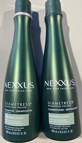Nexxus Diametress Volumizing Combo Pack, Rebalancing Shampoo + Restoring Conditioner, 13.5 Ounce Each, Packaging May Vary
