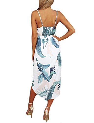 2 Negro Mujeres Floral Shoulder con Lrud Vestido Color de Blanco Estampado en Playa Bohemio Off Blanco S6TBgqw