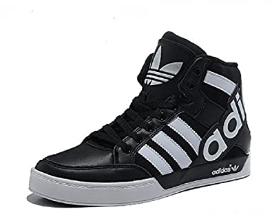 adidas hardcourt big logo, Chaussons montants homme Multicolore Noirblanc,