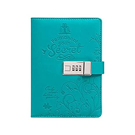 Amazon.com: Gold Happy Cute PU Leather Diary Journal Pocket ...