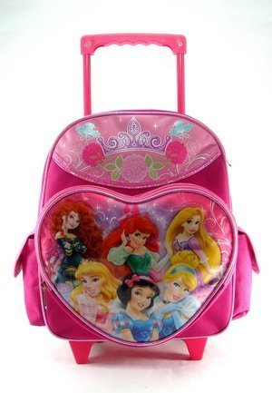 Amazon.com: Small Rolling Backpack - Disney Princess - Dreams Come ...