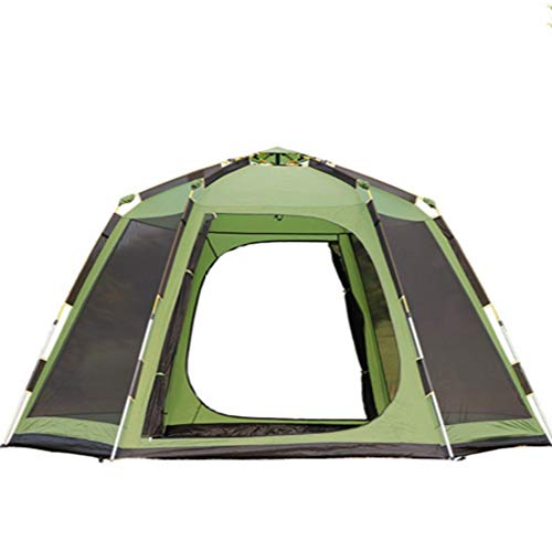 (NCBH Family tent5-6 People Portable 4season Tent Automatic Waterproof Tent Tent Outdoor Backpack Picnic Hike and Beach Fishing)