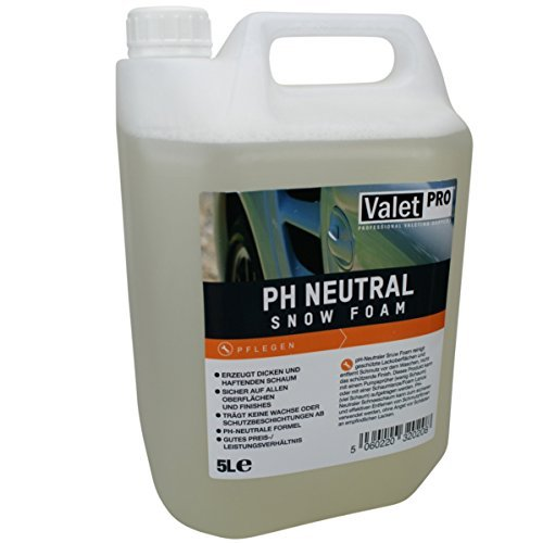 ValeTpro –  Snow Foam Shampoo per auto, PH neutro, 5 litri 5litri