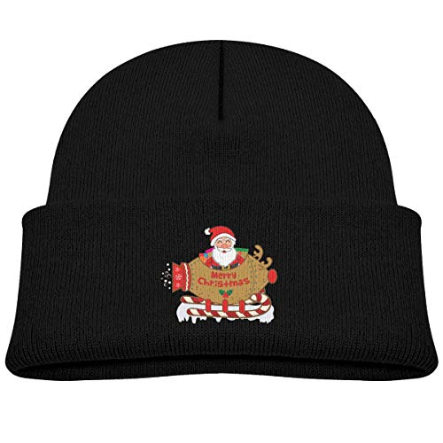 pirdusew Funny Sledge Santa Claus Skull Cap Baby Boy Black