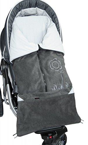 ByBoom – Saco de abrigo 2 en 1 para primavera, verano, otono, universal, para portabebes, asiento de coche, por ejemplo, para Maxi-Cosi, Romer, para cochecito o silla de paseo; antracita/gris