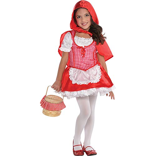 Girls Lil Red Riding Hood Costume - Toddler (3-4) -