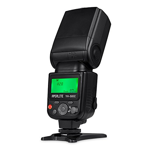 APERLITE Blitzgerät Canon Speedlite Masterblitz Slaveblitz mit TTL, YH-500C