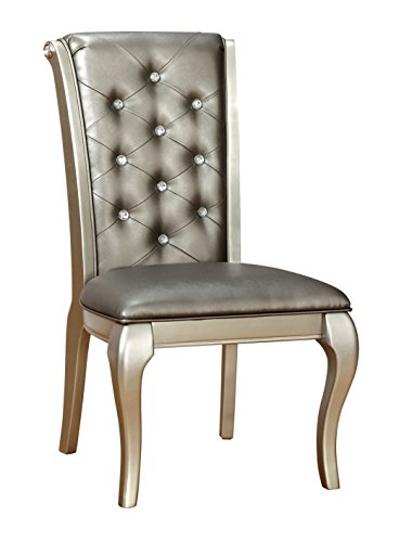 (HOMES: Inside + Out IDF-3219SC Daniese Chair, Silver)