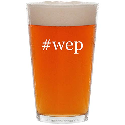 Price comparison product image #wep - 16oz Hashtag Pint Beer Glass
