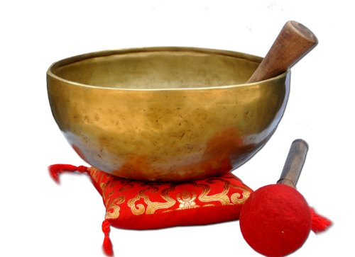 "10"" G Tibetan 7-Metal Singing Bowl"