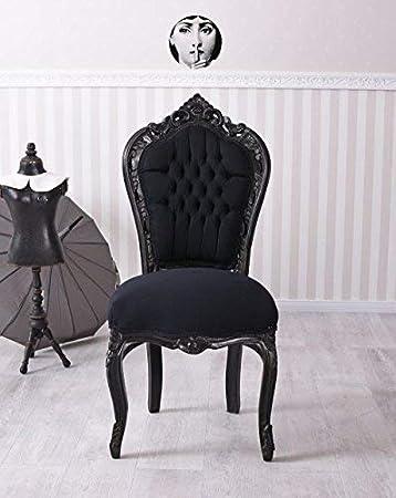 Esszimmerstuhl Schwarz Stuhl Barock Polsterstuhl Schloss Mobel