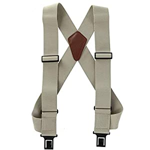 "2 inch Perry Outback ""Comfort"" Suspenders (Wear Like a Vest) (Tan,Regular size)"
